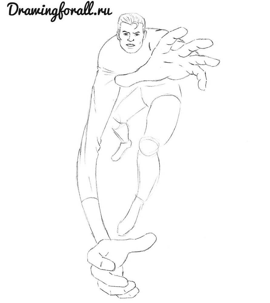 как нарисовать мистера фантастика