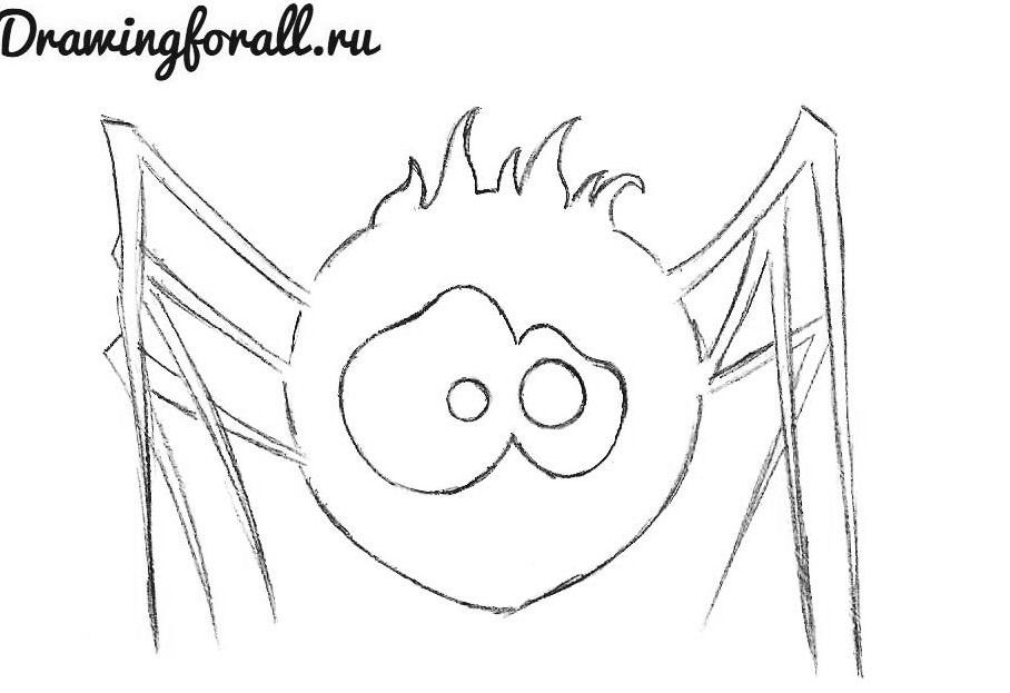 как нарисовать паучка для детей