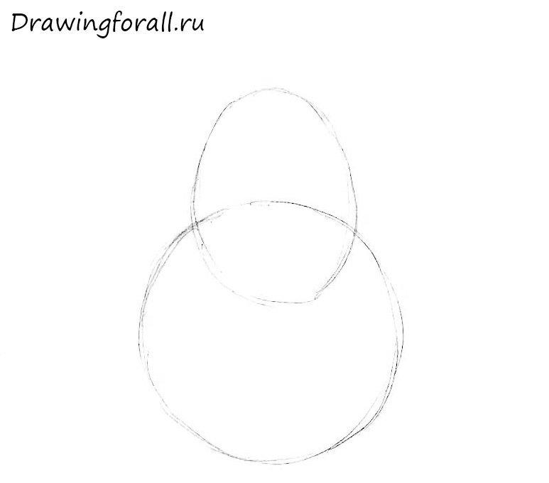 как нарисовать грушу для начинающих