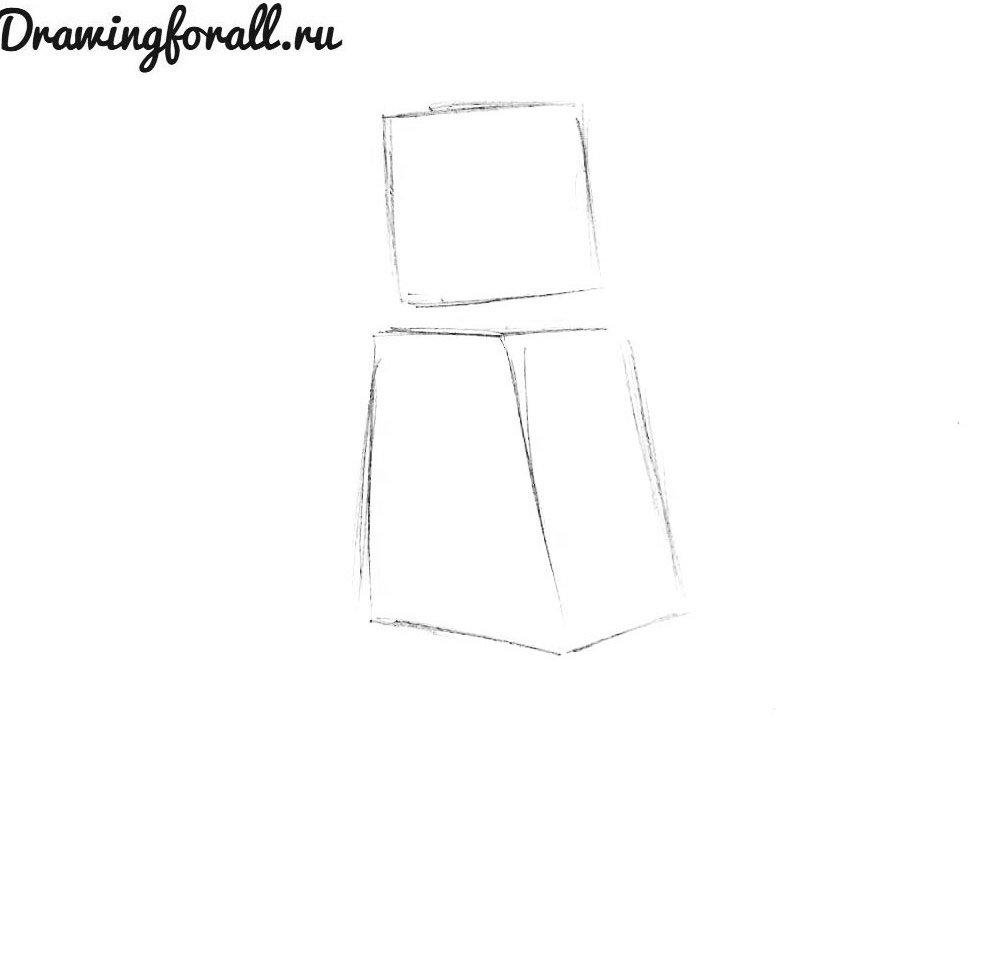 как нарисовать лего человечка