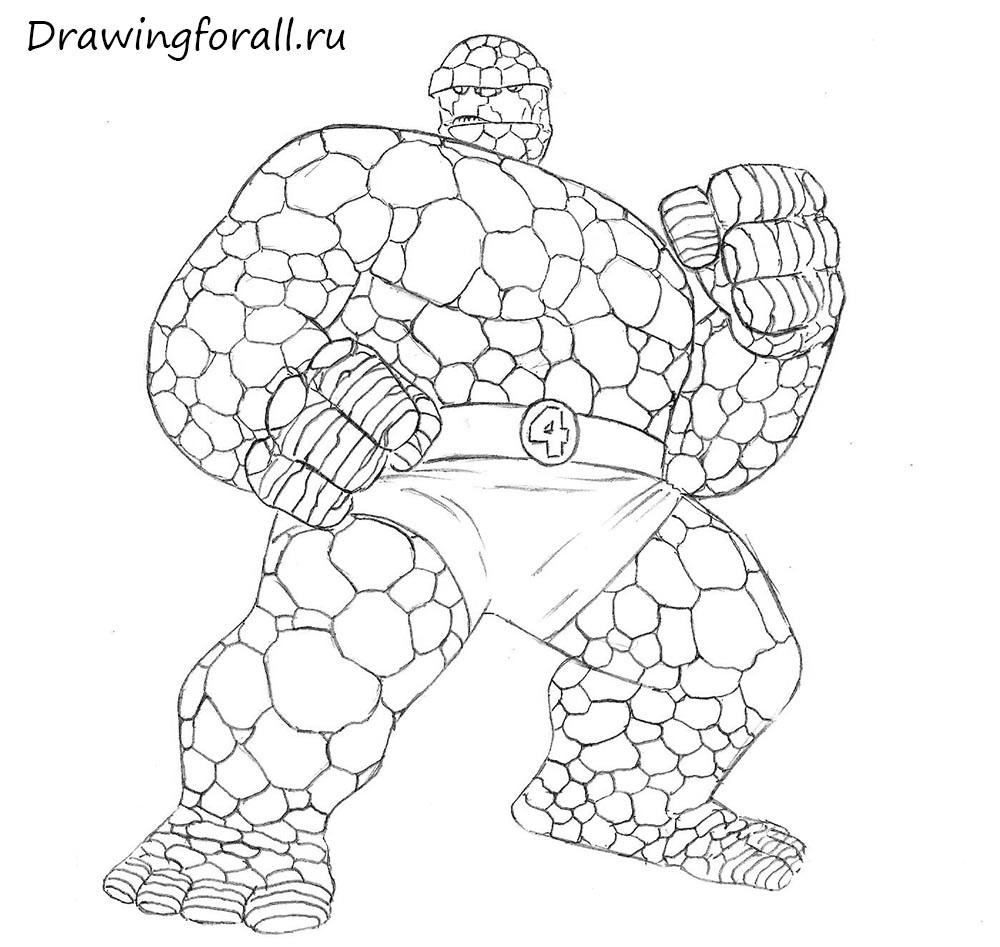 как нарисовать бена грима