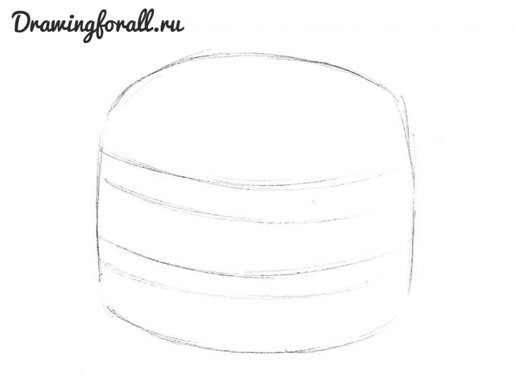как нарисовать гамбургер карандашом поэтапно