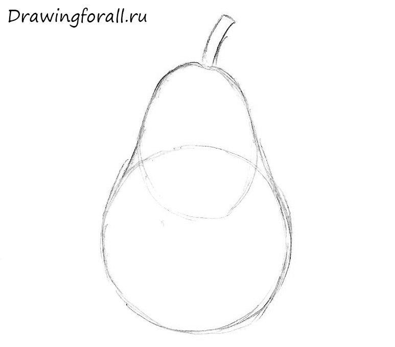 как нарисовать грушу для детей