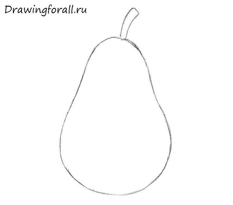 как нарисовать грушу легко