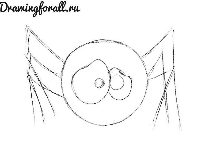 как нарисовать милого паука