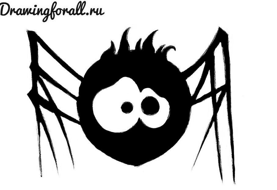 как нарисовать паука для начинающих