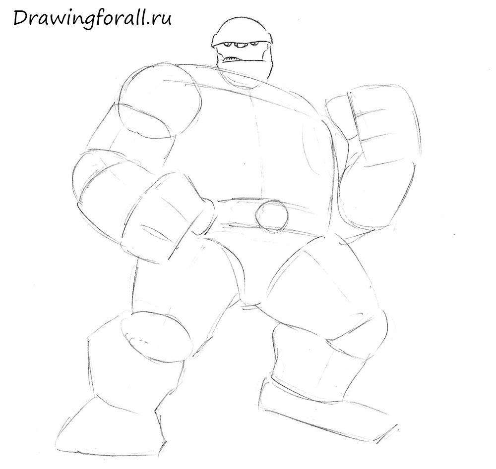 как нарисовать существо поэтапно карандашом