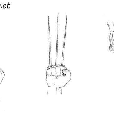 Как нарисовать когти Росомахи