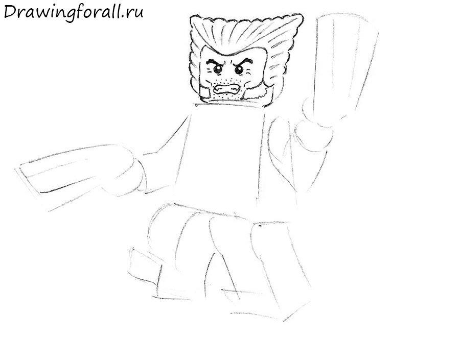Как нарисовать Лего