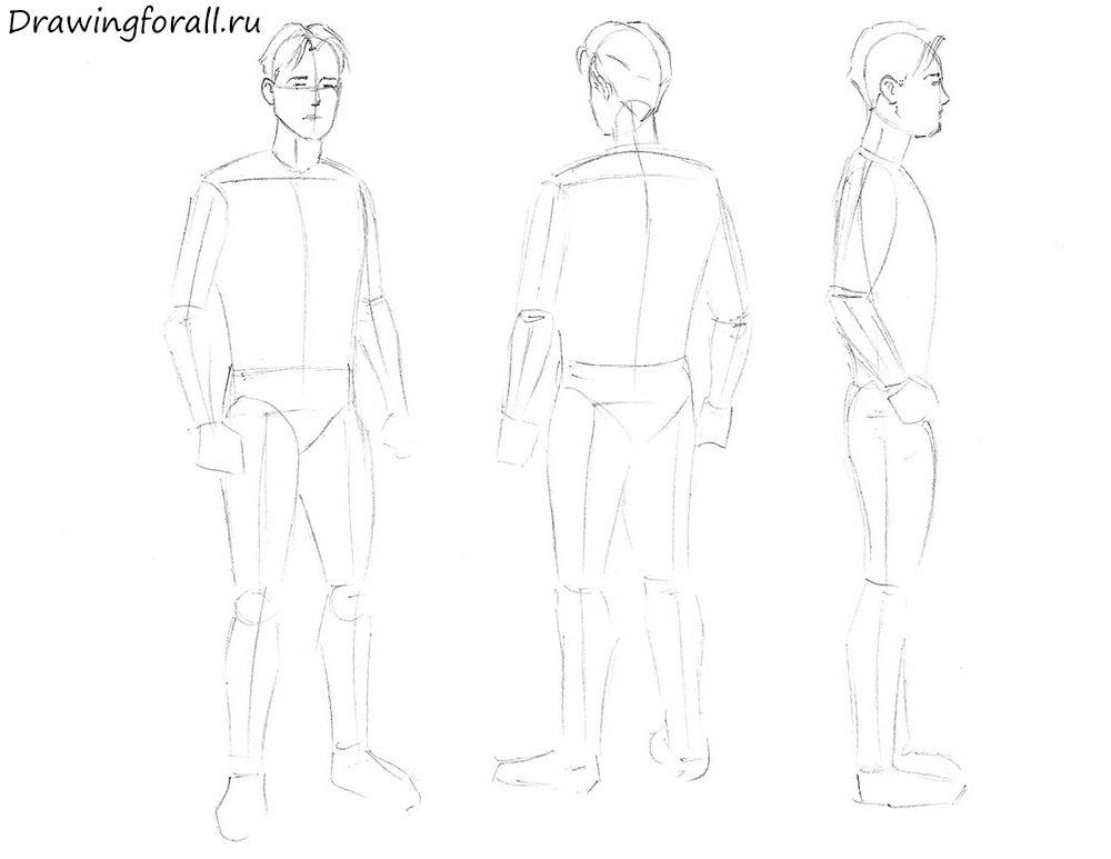 Как нарисовать человека карандашом поэтапно