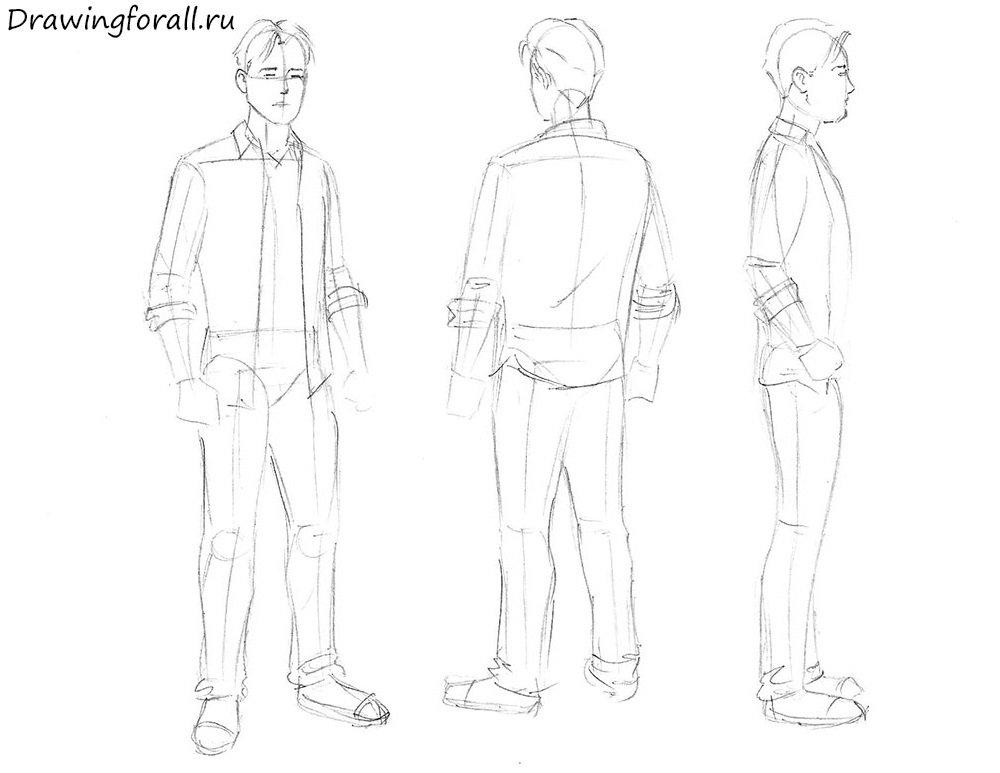как нарисовать человека карандашом для начинающих поэтапно