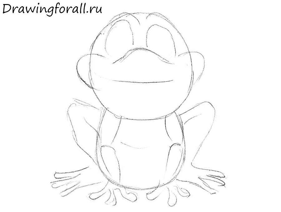 как нарисовать лягушку для начинающих