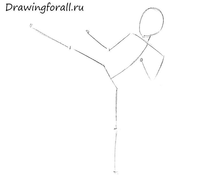 Как нарисовать каратиста