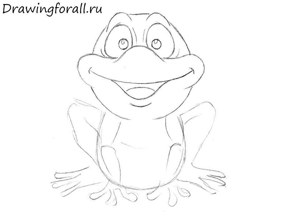 как нарисовать лягушонка для детей