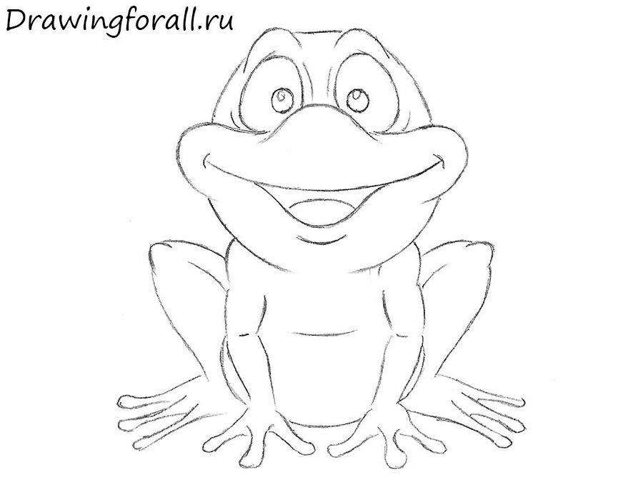 как нарисовать лягушку ребенку
