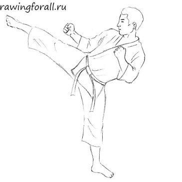 Как нарисовать бойца