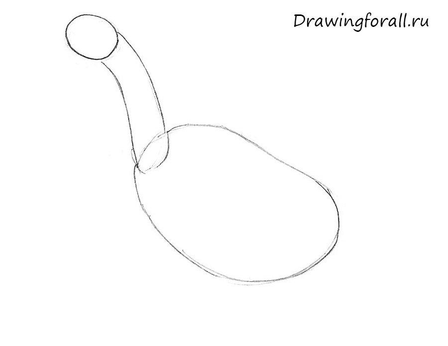 как нарисовать гуся для детей