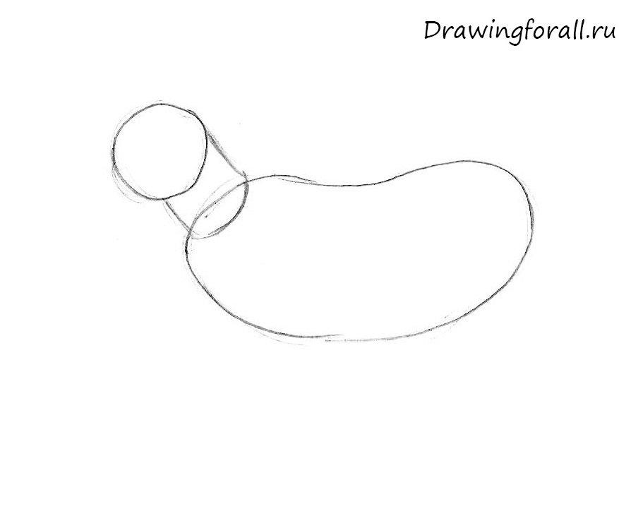 как нарисовать козленка