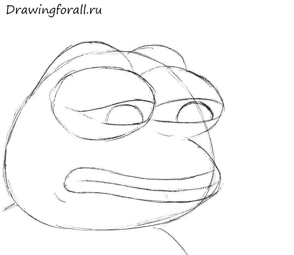 как нарисовать уродливую жабу