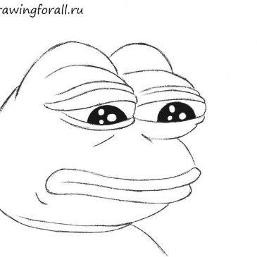 Как нарисовать мем печальный лягушонок
