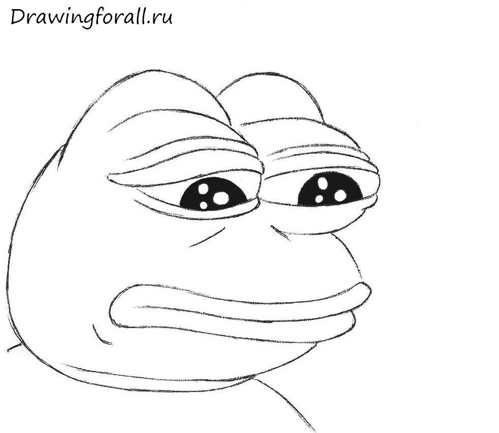 как нарисовать печальную жабу