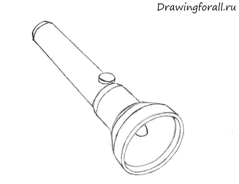 как нарисовать фонарь поэтапно карандашом