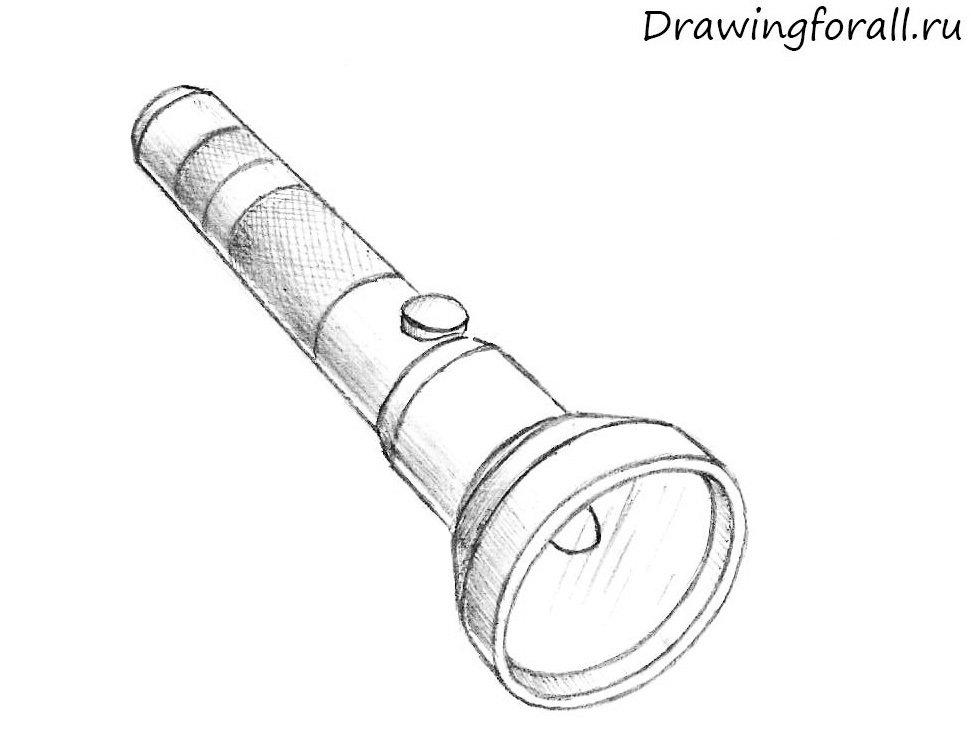 нарисованный фонарик