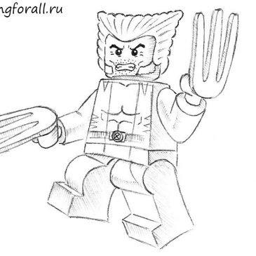Как нарисовать Лего Росомаху