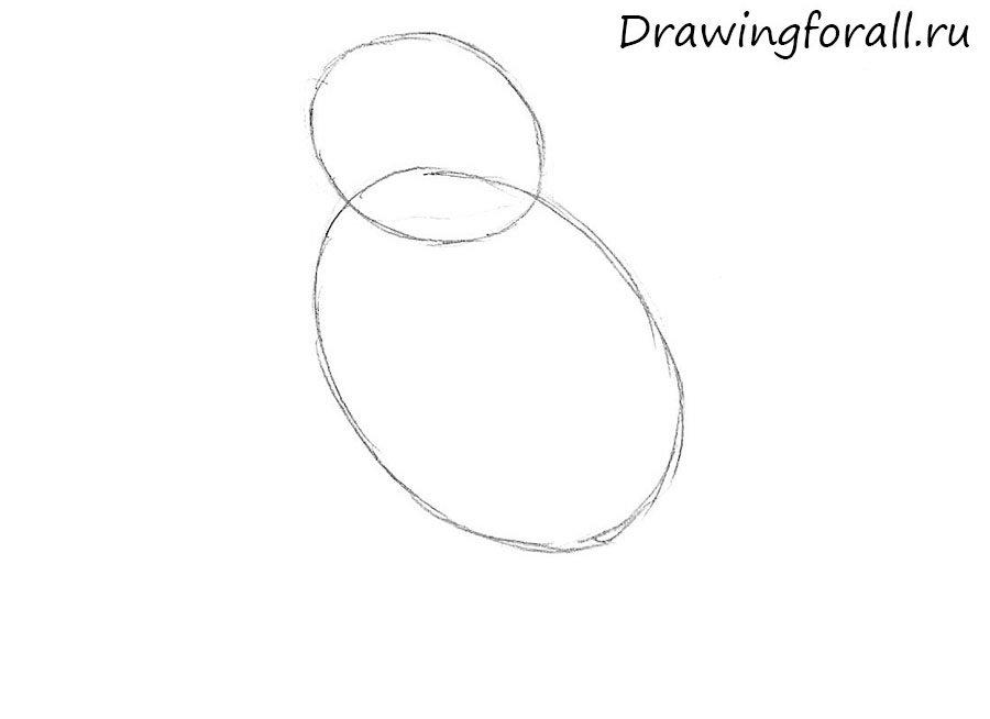 Как нарисовать воробья