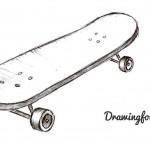 Как нарисовать скейтборд