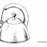 Как нарисовать чайник карандашом