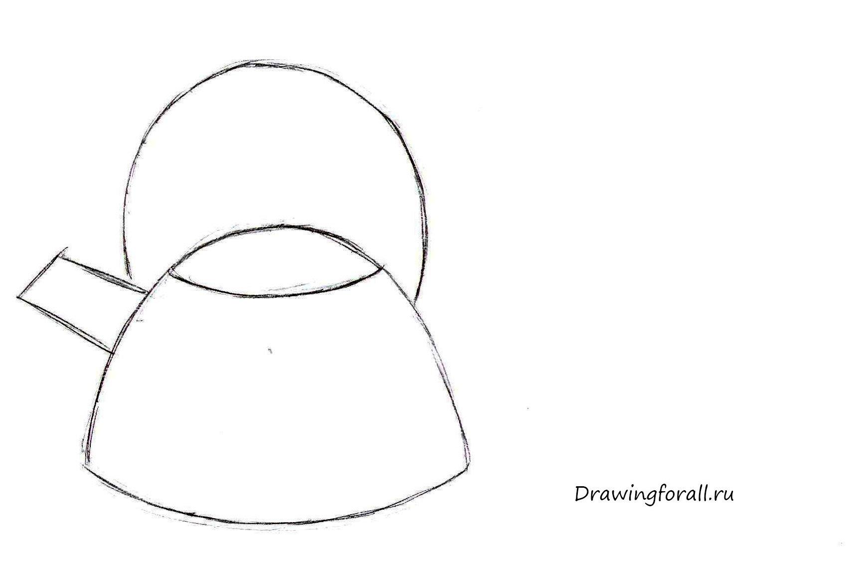 чайника для рисунки карандашом