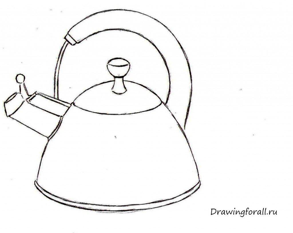 как нарисовать чайник