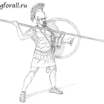 Как нарисовать греческого воина