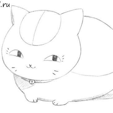 Как нарисовать кота Манэки-Нэко из аниме