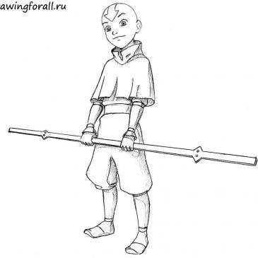 Как нарисовать Аватара Аанга