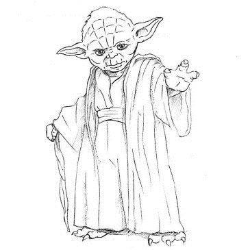 Как нарисовать Мастера Йоду