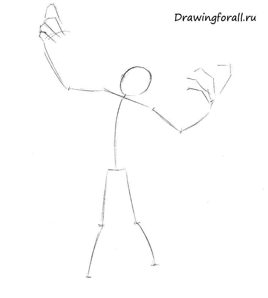 Как нарисовать зомби карандашщом