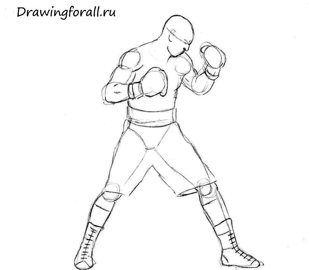 Боксёр нарисованный