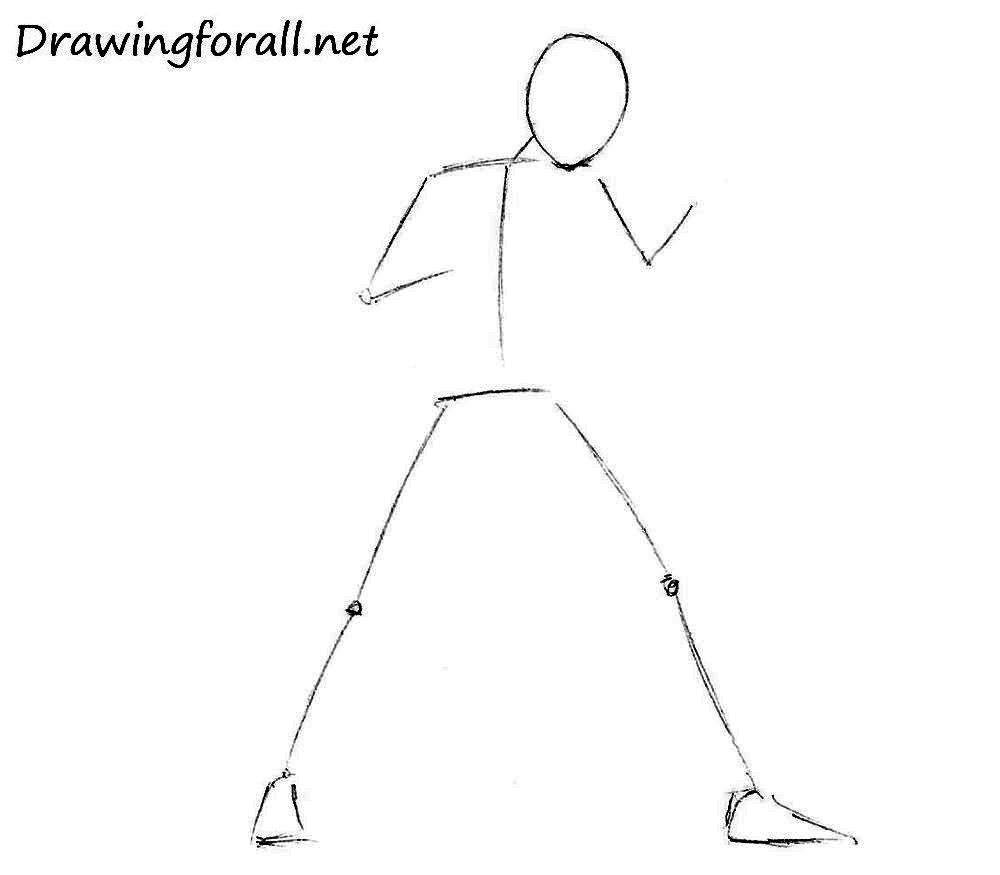 как нарисовать боксёра поэтапно карандашом