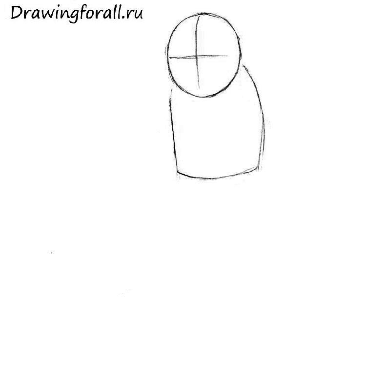 как нарисовать гоблина поэтапно для детей