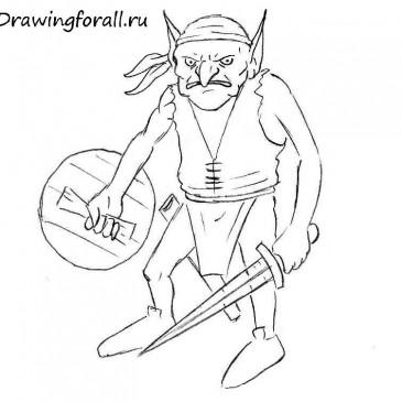 Как нарисовать гоблина