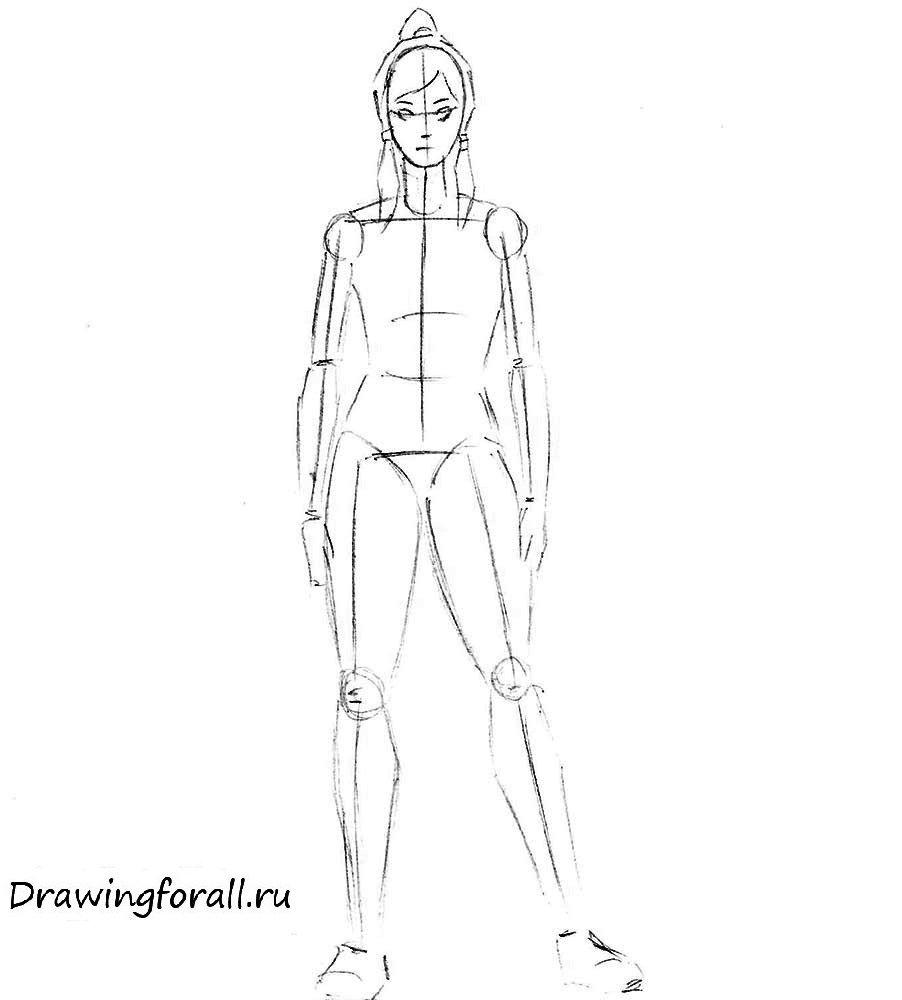 Как нарисовать Аватара Корру поэтапно