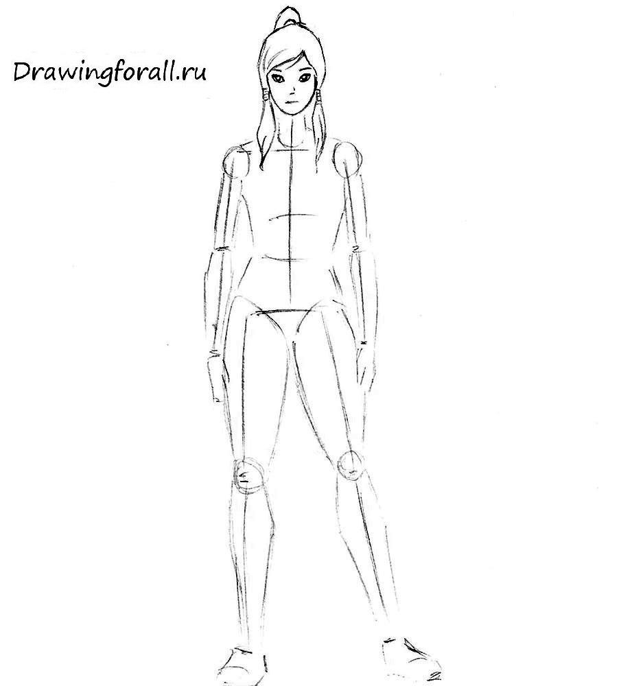 Как нарисовать аниме Корру