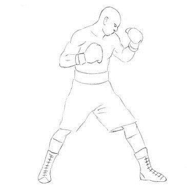 Как нарисовать боксёра