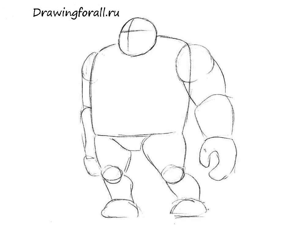 Как нарисовать орка карандашом поэтапно