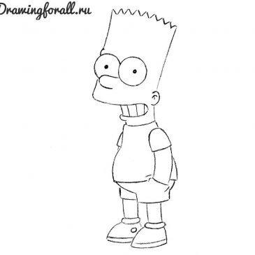 Как нарисовать Барта Симпсона