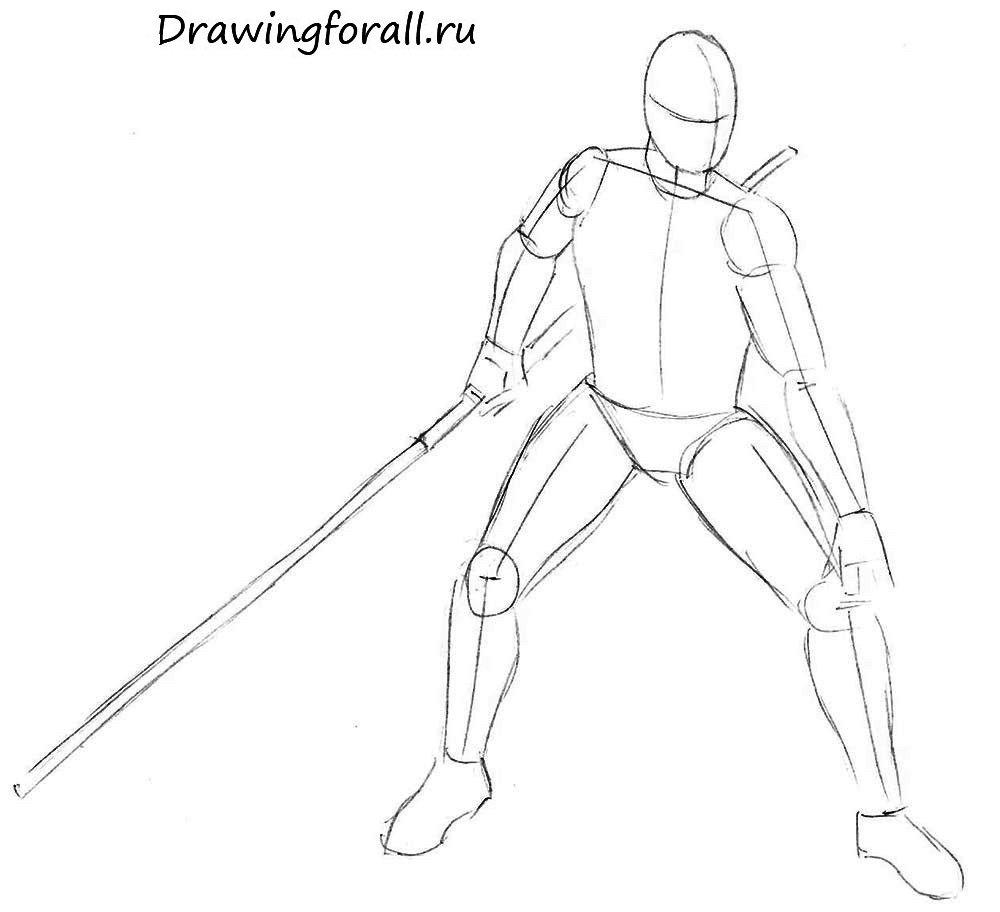 Как нарисовать Дарта Мола карандашом поэтапно