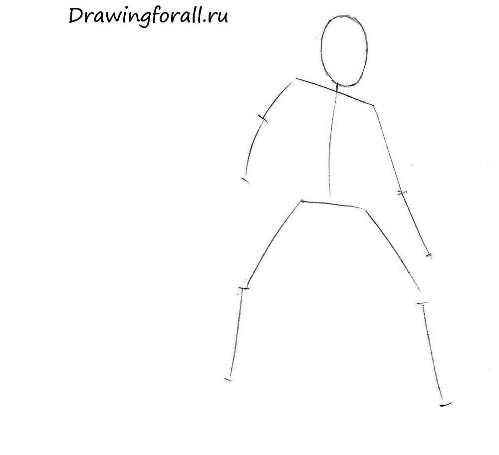 Как нарисовать Дарта Мола поэтапно