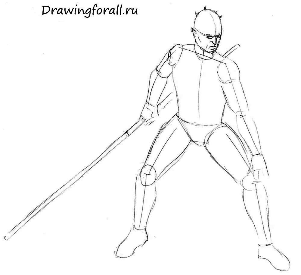 Как нарисовать Джедая
